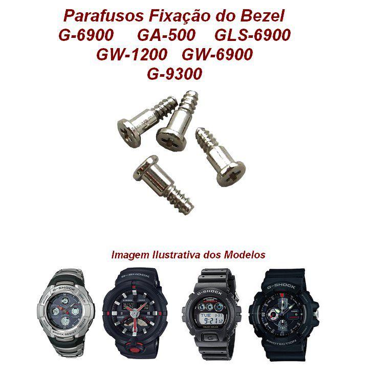 4 Parafusos Bezel Casio G-shock G-6900, GA-500, GW-1200, GW-6900   - E-Presentes