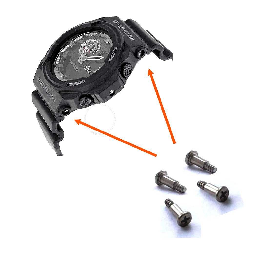 4 Parafusos Bezel Casio G-shock Ga-150, GA-300, GA-310, GLX-150, GN-1000, GW-3500, GW-3500, G-1250,  - E-Presentes