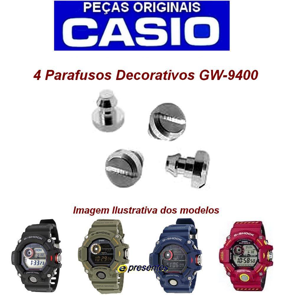 4 Parafusos Cromado Decorativo do Bezel GW-9400 - Peça 100% Autêntica  - E-Presentes