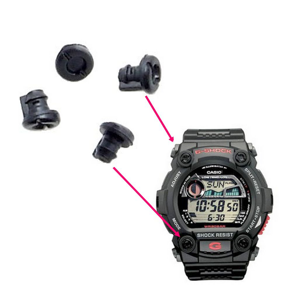 4 Parafusos Decorativos Preto Do Bezel Casio G-shock G-7900  - E-Presentes