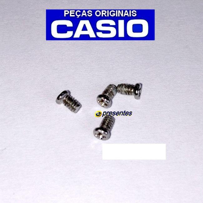 4 Parafusos Tampa Traseira de inox para Casio AMW-710  - E-Presentes