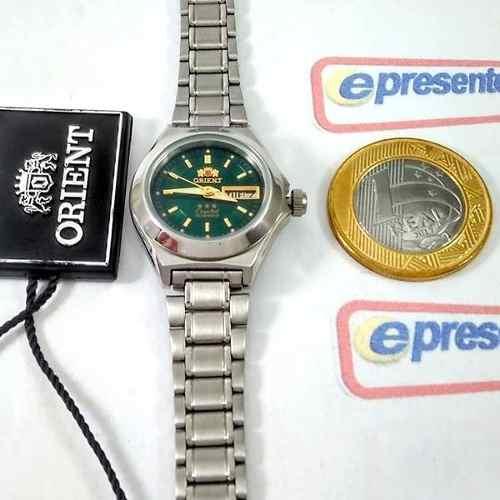 Relógio Orient Automatico Feminino Mini Verde Fnq18004f9  - Alexandre Venturini