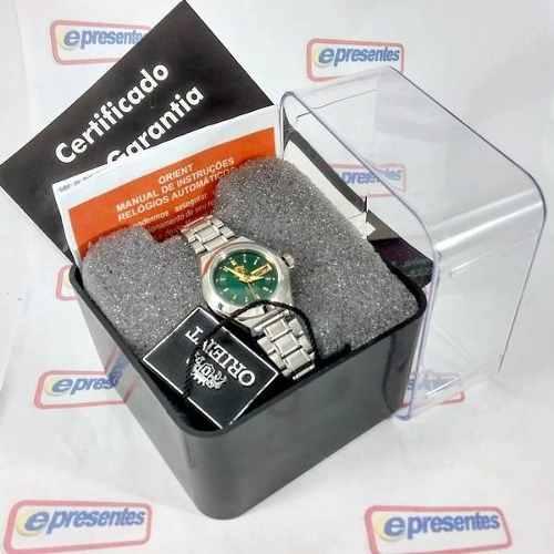 Relógio Orient Automatico Feminino Mini Verde Fnq18004f9  - E-Presentes