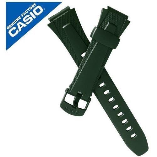 Pulseira Casio 100%original Resina Verde W-752 W-753 W-755  - E-Presentes