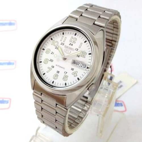 Relógio Automatico Seiko Branco 100%autentico 1ano Garantia  - E-Presentes
