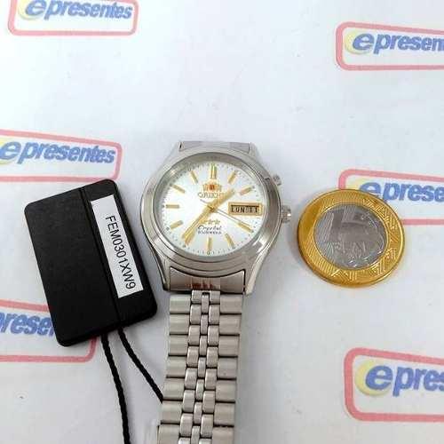 FEM0301XW9 Relógio Orient Automatico Prateado 36mm Autentico  - E-Presentes