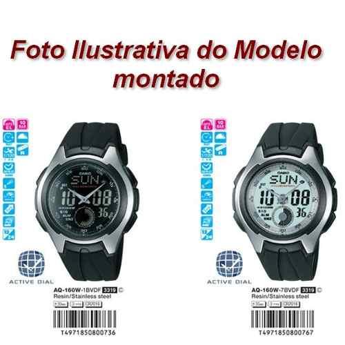 Caixa Relógio Casio Aq-160w-1 - Peça Original - Completa  - E-Presentes