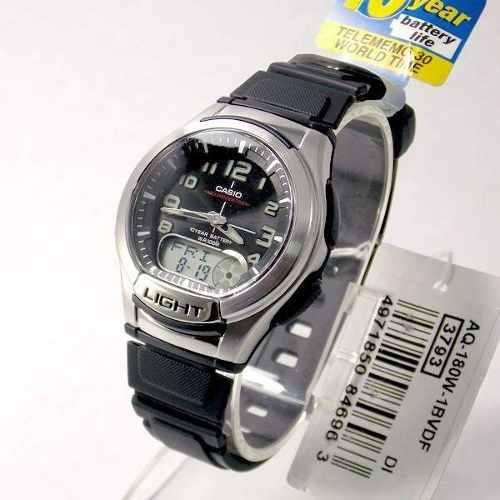 09315f270e9 Aq-180w-1bv Relógio Casio Masculino Ana-digi Bateria 10anos Luz Wr100m ...
