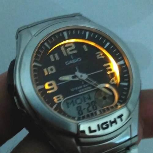 Aq-180w-1bv Relógio Casio Masculino Ana-digi  Bateria 10anos Luz Wr100m  - E-Presentes
