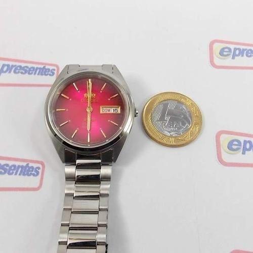 Relogio Automático Orient 21 Jewels Fab00006h9 Vermelho  - E-Presentes