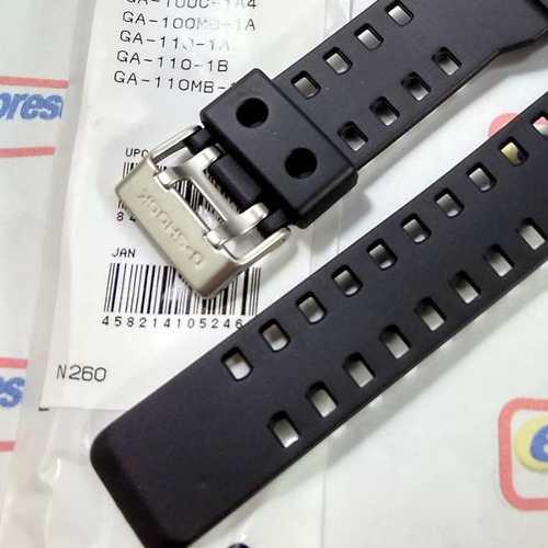 Pulseira Casio G-shock  Preto Fosco Ga-100 Ga-110 Ga-120, Ga-300, GDF-100-1, Gd-8900, G-8900, GR-8900-1 Gr-8900a-1 Gw-8900  - E-Presentes