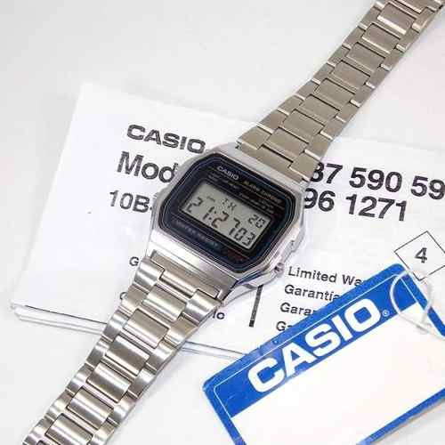 Relogio Casio A158 Digital Vintage Retrô Prateado A158wa-1df  - E-Presentes
