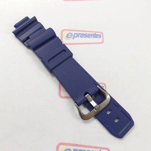 Pulseira Casio Resina Azul Dw-9052-2v Dw-9050 100% Original  - E-Presentes