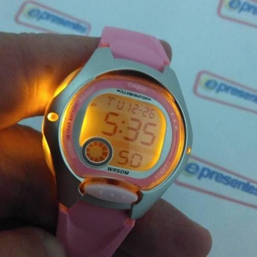 Lw-200 4bv Relogio Casio Digital Feminino Pequeno Cor Rosa  - E-Presentes