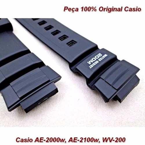 Pulseira Casio 100% Original - Ae-2000w Ae-2100w Wv-200  - E-Presentes