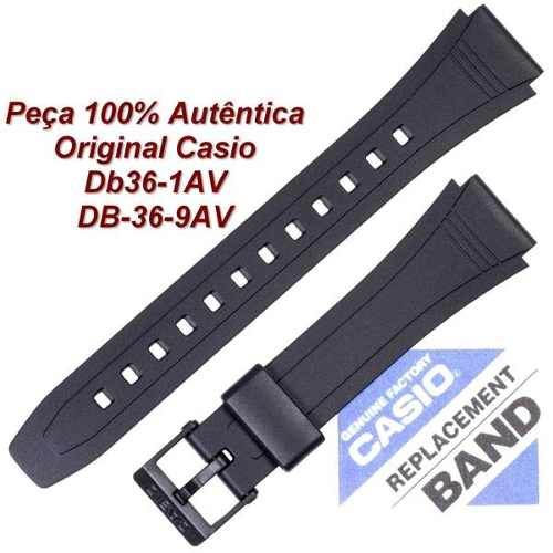 Pulseira Casio Db-36 1av Db-36-9av 100% Original (18mm) *  - E-Presentes