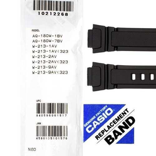 Pulseira Casio  Aq-180w / W-213 100% Original Resina Preta *  - E-Presentes