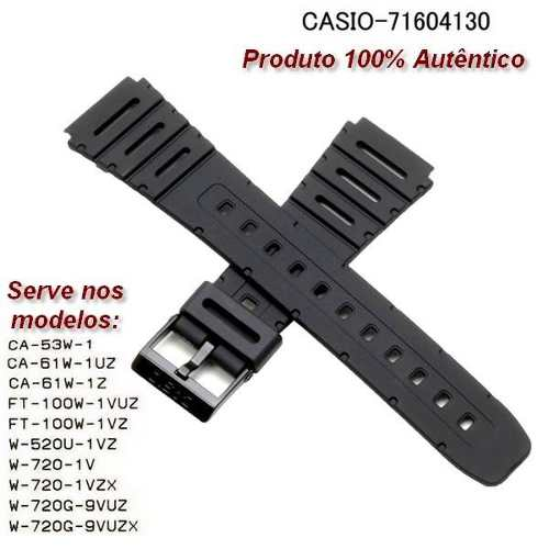 Pulseira Casio Original Ca-53w Ca-61w Ft-100 W-520u W-720  - E-Presentes