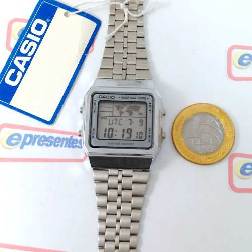 Relogio Casio A500WA-7DF World Time - Original - 1ano De Garantia  - E-Presentes