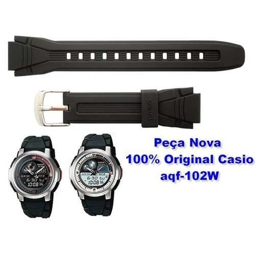Pulseira Casio Aqf-102w Resina Preta *  - E-Presentes