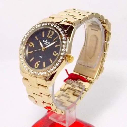 Relógio Condor Dourado Feminino Cristais Kw85077p - 38mm  - E-Presentes