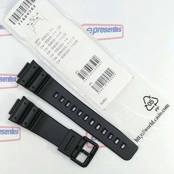 Pulseira Preta Casio G-shock DW-6900  DW-6900G  - E-Presentes