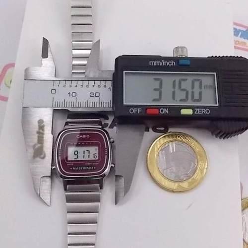 La670wa Relógio Casio Mini Prateado Vinho 100% Original  - Alexandre Venturini