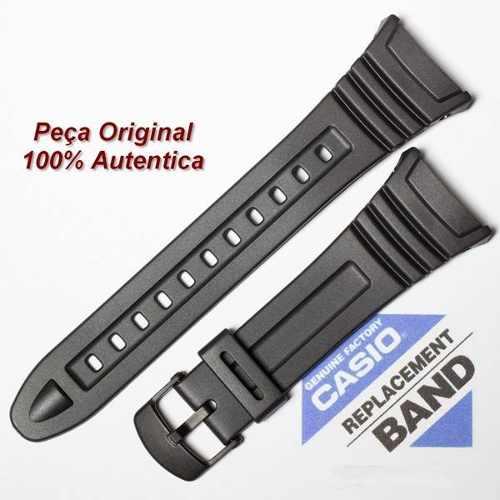 Pulseira Casio W-96h Borracha Resina Preta - 100% Original  - Alexandre Venturini