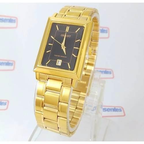 Relógio Orient Dourado Preto 28mm Quartz Original FUNAX001B0   - E-Presentes