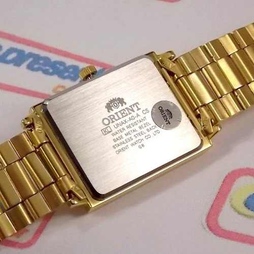 Relógio Orient Dourado Preto 28mm Quartz Original FUNAX001B0   - Alexandre Venturini
