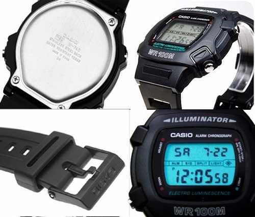 W-740 1v Relógio Casio Illuminator Retrô Wr100m Crono Anos80  - Alexandre Venturini