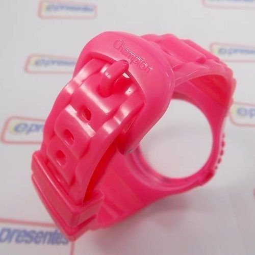Pr30119d Pulseira Champion 100% Original Pink Rosa Brilhante  - E-Presentes