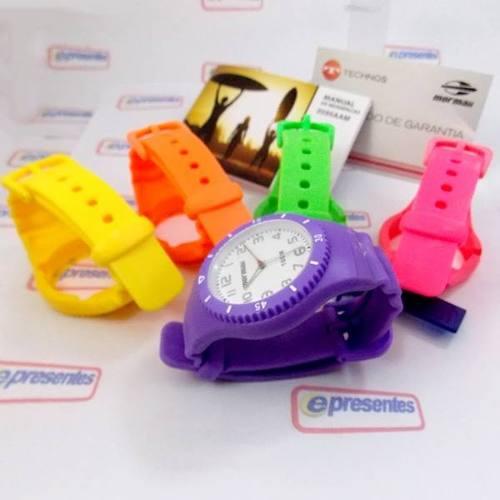 Relógio Mormaii Aquarela 2035aam-8l Troca Pulseiras 5 Cores  - E-Presentes