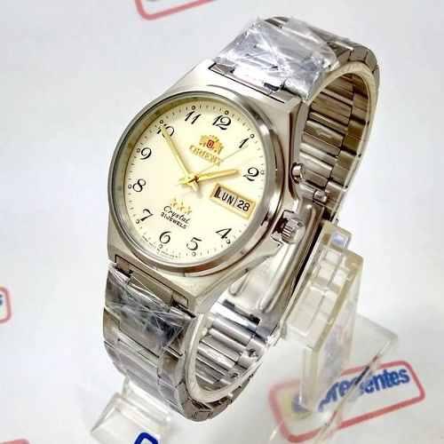 3f99a379a50 Relógio Orient Automático Aço 21jewels Bege Unissex FEM5M014C9 - E-Presentes