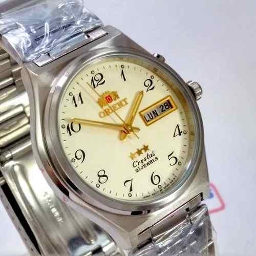 Relógio Orient Automático Aço 21jewels Bege Unissex FEM5M014C9  - E-Presentes