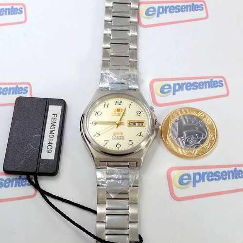 Relógio Orient Automático Aço 21jewels Bege Unissex FEM5M014C9  - Alexandre Venturini