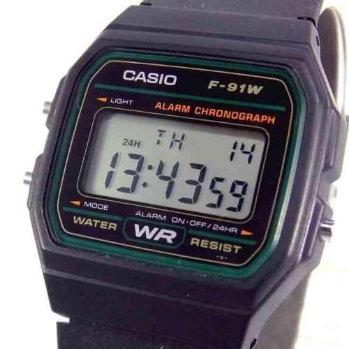 Relogio Casio Digital F-91w 3dg Retrô Vintage 100% Original  - E-Presentes