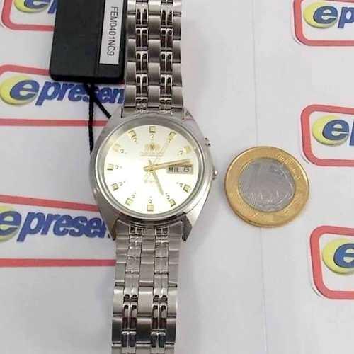Relógio Automático Orient Fem0401nc9 Original 36mm 3estrelas  - E-Presentes