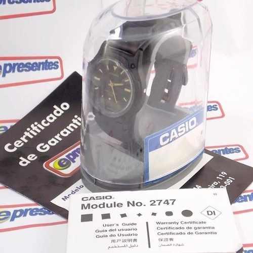 Relógio Casio Anadigi Aw-49he-1av Wr50 Pulseira Resina Preto  - E-Presentes