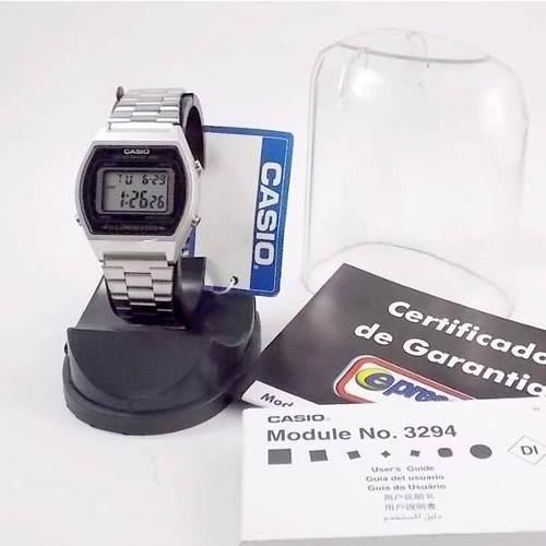 B640wd Relógio Casio Nova Serie Retrô Prata Wr50 Illuminator  - E-Presentes