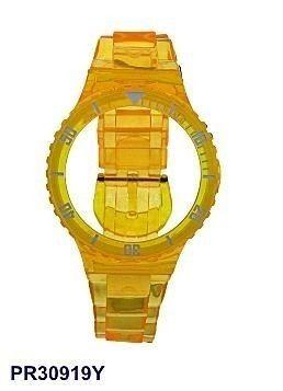 Pr30919y Pulseira Champion Amarela Translucido 100%original  - E-Presentes