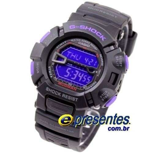 Relógio Casio G-shock Mudman Preto/purpura G-9000BP-1dr - E-Presentes