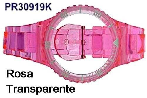 Pulseira Avulsa Original Champion Rosa Translúcida Pr30919k  - E-Presentes