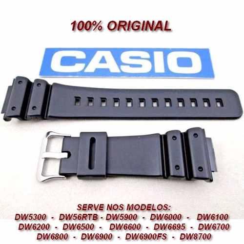 Pulseira Casio 100% Original G-shock Antigo Dw-6000 Dw-6200  - E-Presentes