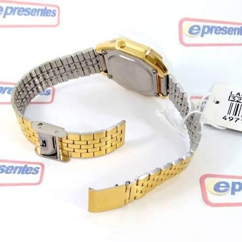 Relógio Feminino Casio Digital Dourado Vintage La680wga 1bdf  - E-Presentes
