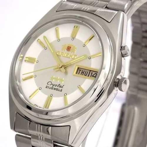FEM6Q00dW9 Relogio Automático Orient 21 Jewels Pulseira Aço  - E-Presentes