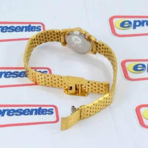 Relógio Feminino Orient Mini Dourado SUB4L001B0 Quartz Retrô  - E-Presentes