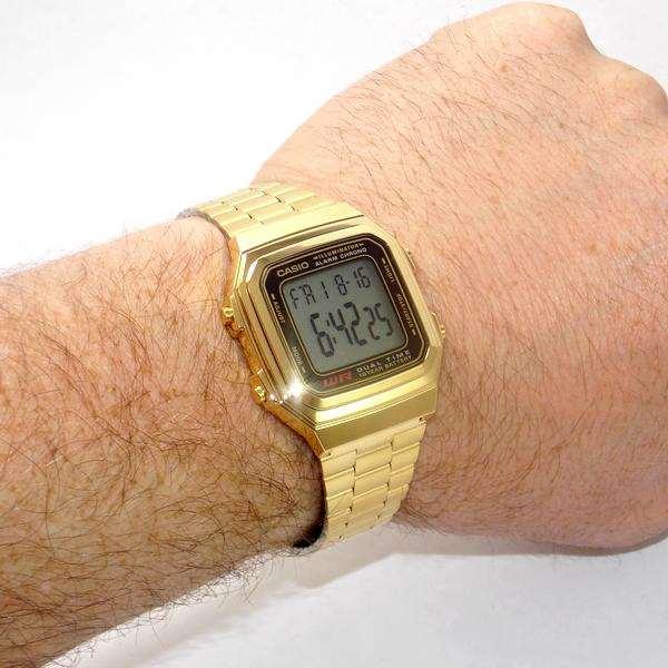 A178WGA-1ADF  Relogio Casio Dourado - 100% Autentico   - E-Presentes