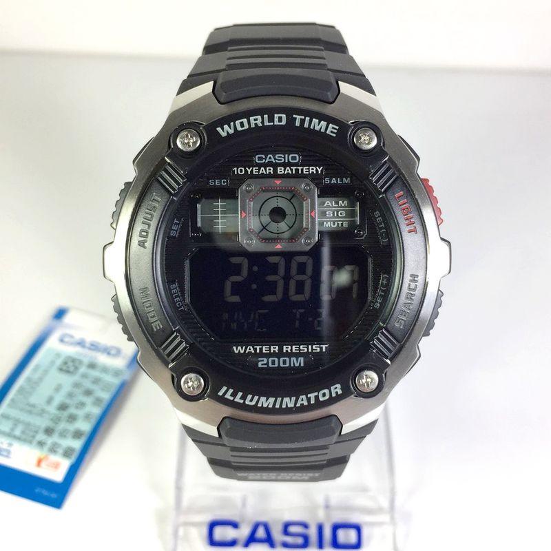 AE-2000W-1BV Relógio Casio Série Mundial Bateria 10anos 200m  - E-Presentes