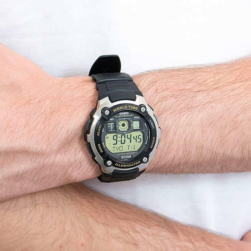 Ae-2000w 9av Relógio Casio Série Mundial Bateria 10anos 200m  - E-Presentes